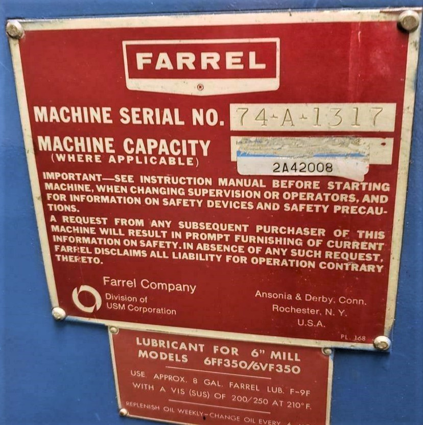 13IN FARREL TWO ROLL MILL 2020NYC1